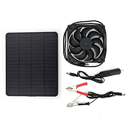 Yosoo Health Gear Paneles solares duraderos, Ventilador de Panel Solar, casa para Mascotas para Coche de Invernadero