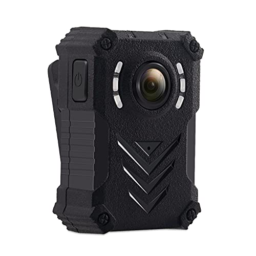 Body Camera Cámara de Cuerpo Cámara de Policía Portátil HD 1080P CAM Camcorder Video Recorder con Luz Infrarroja Gran Angular de 140 °