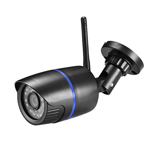 Fltaheroo CáMara IP InaláMbrica WiFi CáMara de Audio IP HD IR 720P Tarjeta de Vigilancia CCTV de Seguridad para Exteriores TF para Enchufe de la EU