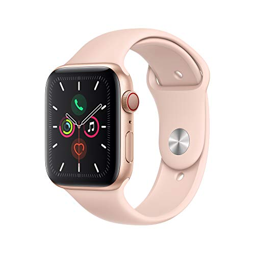 Apple Watch Series 5 (GPS+Cellular, 44mm) - Gold Aluminum Case with Pink Sport Band
