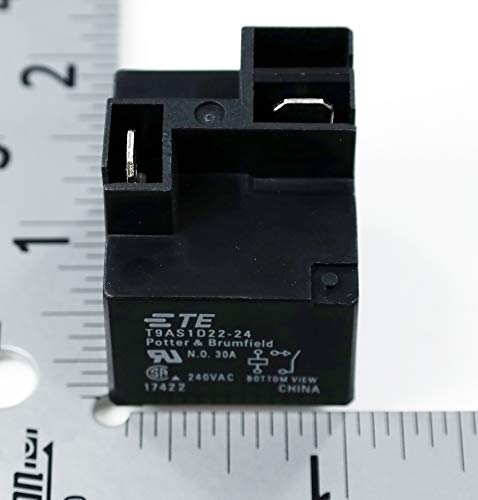 TE CONNECTIVITY / POTTER & BRUMFIELD T9AS1D22-24 POWER RELAY SPST-NO 24VDC, 30A, PC BOARD (1 piece)