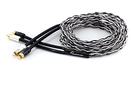 KnuKonceptz Krux Audiophile 1M Interlaced 3D Copper Twisted Pair 3ft RCA Cable
