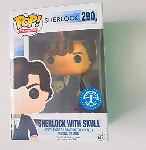Funko - Figurine Sherlock - Sherlock avec Crâne Exclu Pop 10cm - 0849803061784