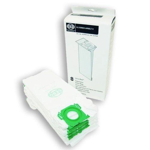 SEBO Airbelt K1/K3 UltraBag-Sacchetti per aspirapolvere a cilindro, confezione da 8 pezzi