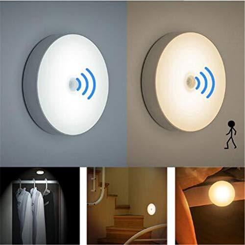 GKJRKGVF PIR sport nachtlampje 6 leds automatisch openen/sluiten, geschikt voor slaapkamer, trapkast, kledingkast, draadloze USB-wandlamp