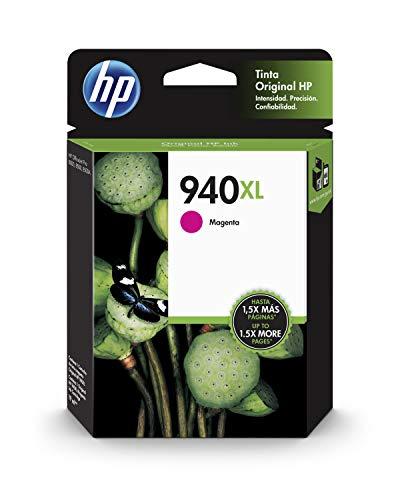 HP 940XL C4908AE Magenta, Cartucho de Alta Capacidad Original, de 1.400 páginas, para impresoras HP OfficeJet Pro serie 8000, 8500 y 900