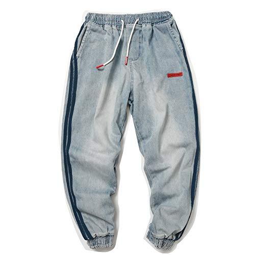 HNRLSL Pantalones Harem Cargo Hip Hop Swag Side Stripe Denim Fabric Hombres Pantalones Moda Harajuku High Street Hombre Casual Pantalones Streetwear