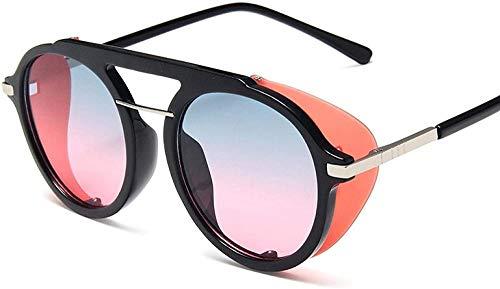 HNsusa Gafas de sol con montura de metal punk Gafas de sol para mujer Gafas redondas de diseñador de lujo Gafas de sol de moda para hombre Gafas de sol vintage 4