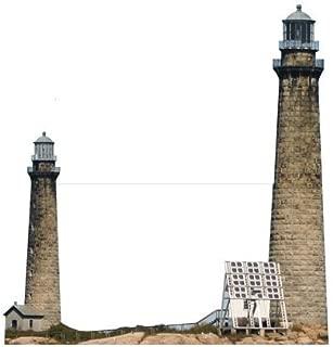 H20223 Cape Ann Twin Lighthouse Cardboard Cutout Standup