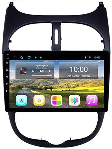 KLL Autoradio per Peugeot 206 2000-2016 con Navigazione GPS Android Touchscreen Stereo Bluetooth WiFi USB Mirror Link
