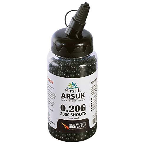 ARSUK Softair Kugeln Munition Paintball Hochwertige BB, High Grade 6mm - 0.20g, Gewehr Sniper Waffen Erwachsene Jagdsport Zubehör