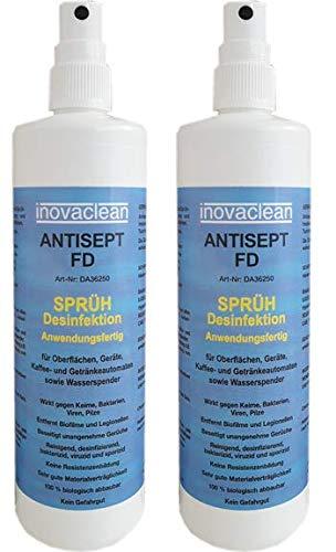 Desinfektionsspray inovaclean 500 ml Sprühflasche VIRUZID, gegen Viren, Bakterien, Keime und Pilze, viruzid, bakterizid, und sporizid (SINNVOLL AUFGRUND DER AKTUELLEN SITUATION IM LAND)