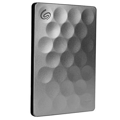 Seagate Backup Plus Ultra-Slim 1TB USB 3.0 2.5inch External Hard Drive - Platinum - STEH1000300 (Renewed)