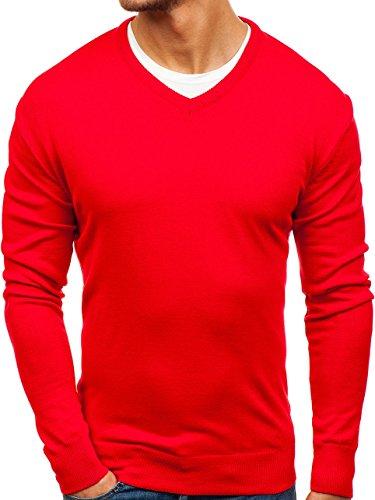 BOLF Hombre Jersey Pulóver Comeor 200 Rojo XXL [5E5]