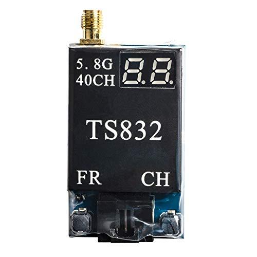 Sumicline Transmisor TS832 40Ch FPV Transmisor AV inalámbrico de Largo Alcance de 3 km para FPV Racing Drone