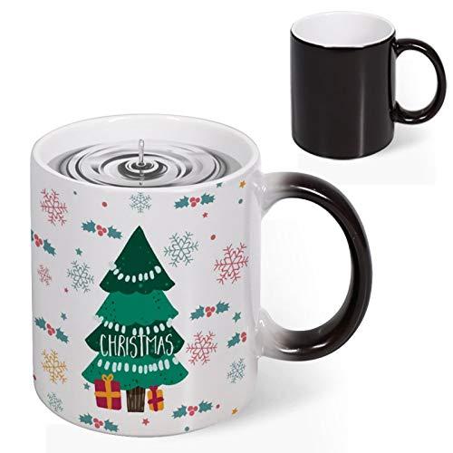 Christmas Tree Pine Snowflake Winter Mugs 11 oz, Magic Color Changing Coffee Mug Cups Heat Sensitive Ceramic Mugs For Kids Family Friends Christmas Winter Quarantine Novelty Idea Gifts