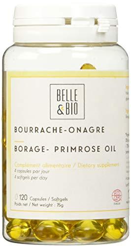 Belle&Bio - Bourrache Onagre - 120 capsules - Éclat - Fabriqué en France