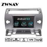 ZWNAV Android 9.0 GPS para estéreo, navegación, Reproductor de DVD o Citroen C4 C-Quatre C-Triumph 2004-2012 con Europa 49 Tarjeta de mapeo de país