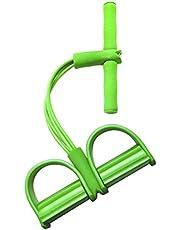 VOSAREA Multifunción Pierna Ejercitador Pedal de pie Expansor de Culturismo Cuerpo doméstico Reglas de Resistencia Equipo de Entrenamiento para Abdominales (Verde)