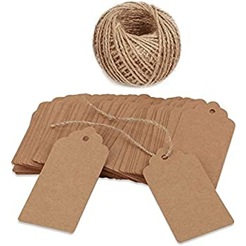 100pcs Natural Wood Rustic Gift Tags Hanging Label for Christmas XMAS Party