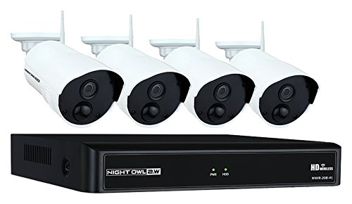 Night Owl Camera System 4 Channel 1080p Wireless Smart Security Hub, White WNVR201 44P B