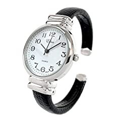 Case Size is about 1.2 inch (30 mm) Band Width: 0.37 inch (9 mm) Fits All Wrists from 6 to 7 Inches Stainless Steel Back Japan Quartz Movement