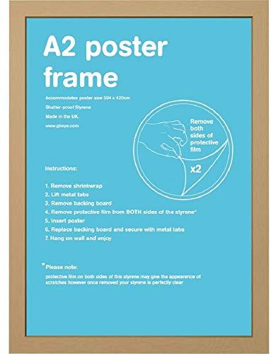 Bilderrahmen A2 Eiche - Holz - 42 x 59.4 cm   PostersDE