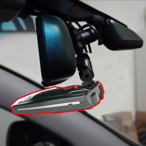 AccessoryBasics Universal Car Rear View Mirror Radar Detector Mount for Uniden R3 R1 Radenso SP Pro Valentine One Whistler CR 65 70 75 80 85 90 XTR 130 RX Meter Cobra XRS ESR SPX ESD Radar Detector