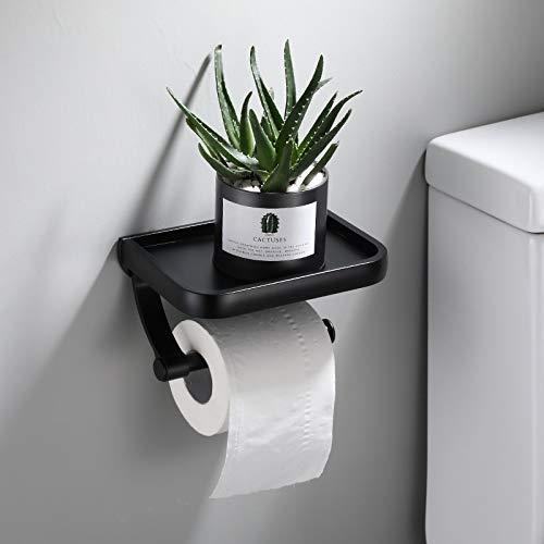 Soporte de papel higiénico de acero inoxidable Baño Montaje en pared WC papel teléfono titular estante toalla rollo estante accesorios (estilo D)