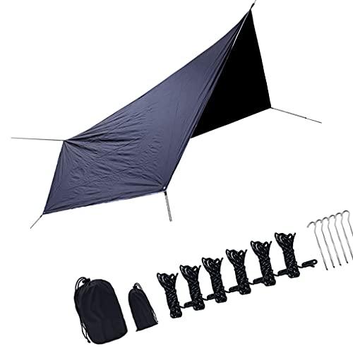 Hellery Nobranded 360x280CM wasserdichte Plane Tragbare Outdoor Camping Reise Markise Backpacking Tarp Shelter Regen Plane Baldachin Markise Langlebige Abdeckungen mit -...