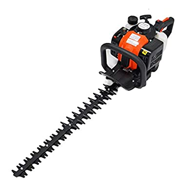 "ToolTuff 24"" Blade Hedge Trimmer, 26cc Gas Power, Double Sided"