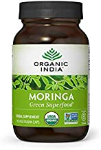 Organic India Moringa Supplement, Immune Support, Abundant in Vitamins, Minerals and Amino Acids, 90 Veg Capsules