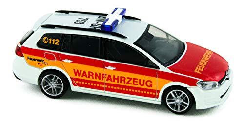 Rietze 53310 Volkswagen Golf VII Variant, Feuerwehr Hürth, Warnfahrzeug 1:87 Fertigmodell
