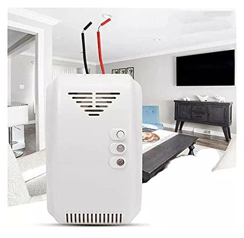 Detector de gas de gas natural Detector de gas SENSOR DE HUMO Alarma de alarma segura 12V Propano Butano LPG Gas Fugas de gas Alarma de motor para Home Kitchen RV Móvil Garaje Restaurante Hotel