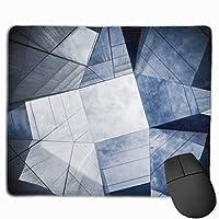 マウスパッド オフィス 最適 空 ブラック 幾何 建物 雲 ゲーミング 光学式マウス対応 防水性 耐久性 滑り止め 多機能 標準サイズ25cm×30cm