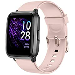 ♥ 【 Fitness Tracker】- YAMAY 023 watch can automatically track your steps, distance traveled, calories burned and sleep quality accurately all day.You can also set up to 14 sport modes to track your various workout accordingly.Your every movement will...