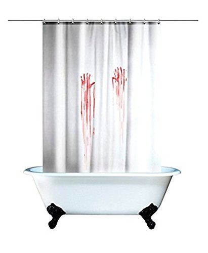 Aidonger Halloween Blutbad Curtain blood bath Duschvorhang Duschgel (Weiß)