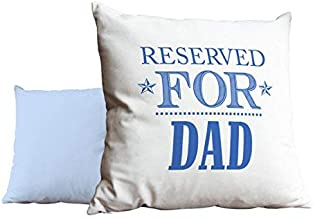 hiusan Reserved for Dad Blue Throw Pillow Covers Decorative 18 X 18 with Zip Cushion Covers for Home Gifts