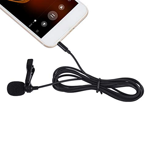 Zopsc Lapel Microphone Professional Grade Best Small Mini Lavalier Lapel Omnidirectional Condenser Microphone for Recording YouTube/Interview/Video Conference/Podcast/Voice Dictation/Phone
