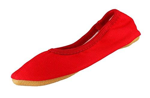 Beck Mädchen Basic Gymnastikschuhe, Rot (Rot 07), 25 EU