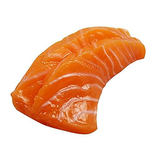 NC 4 ST Kunstmatige Voedsel Realistische Zalmfilet Gesimuleerde Sushi Voedsel Prop voor Restaurant Nep Voedsel Model Fotografie Props Decor