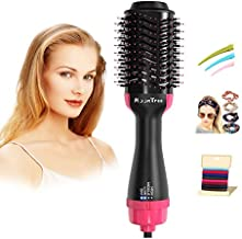 Moontree Hair Dryers Brush 3 in 1 Hair Dryers with Brush, Blow Dryer Brush for Drying, Straighten Curl with Negative Ionic Technology for Reducing Frizz&Static