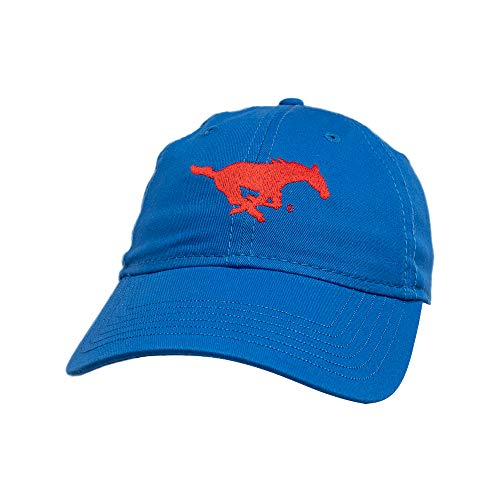 Ouray Sportswear NCAA SMU Mustangs Epic Washed Twill Cap, Adjustable, Royal