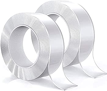 2-Pack 6.6-Ft Heavy Duty Double Sided Tape