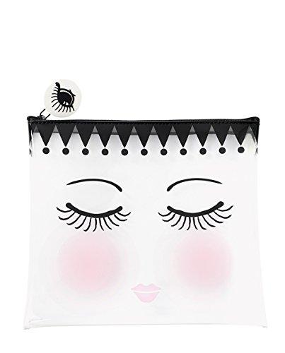 Miss Etoile - Beauty case da viaggio, con chiusura a zip, colore: Trasparente