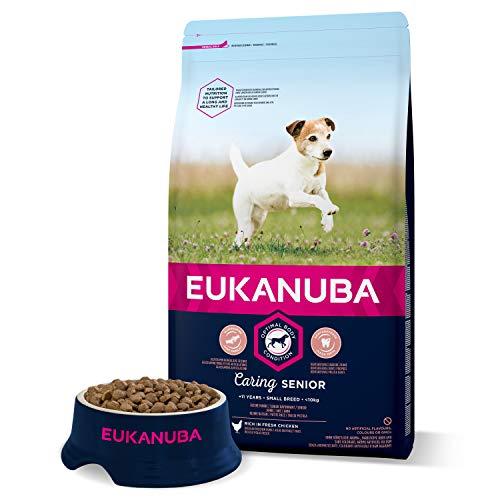 EUKANUBA Senior Croquettes pour les petits chiens avec fraîcheur poulet