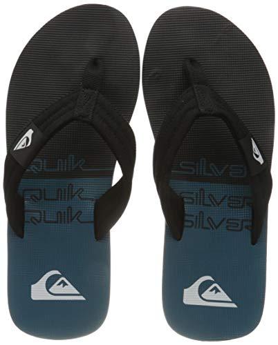 Quiksilver Mens Molokai Layback Flip-Flop, Black/Black/Green, 43 EU