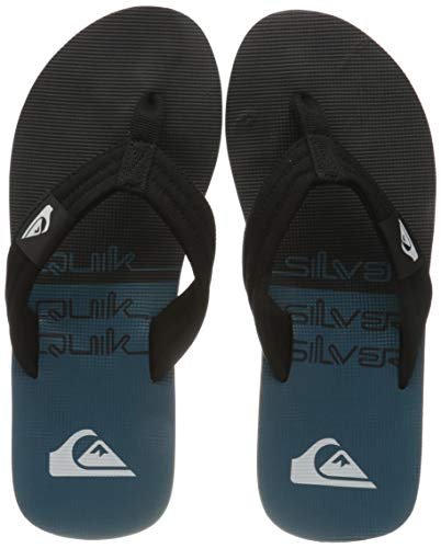 Quiksilver Molokai Layback, Flip-Flop Uomo, Black/Black/Green, 41 EU