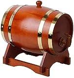 YAOSHUYANG Barril de Madera, Barriles de Roble, barriles de Whisky de 5 litros en barricas de Madera de Roble, se Pueden Usar para Hacer Vino o almacenar Cerveza Blanca