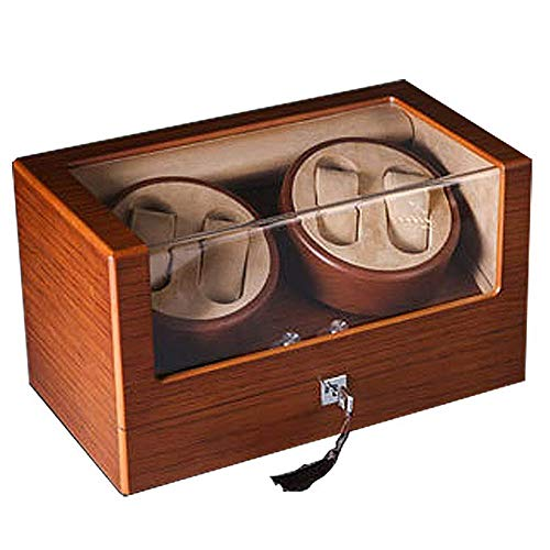 CARLAMPCR Watch Winder/Automatic Watch Winder, 4 Winder Positions, 5 Rotating Modes, Wooden Watch Winder Box/for Any Automatic Watch